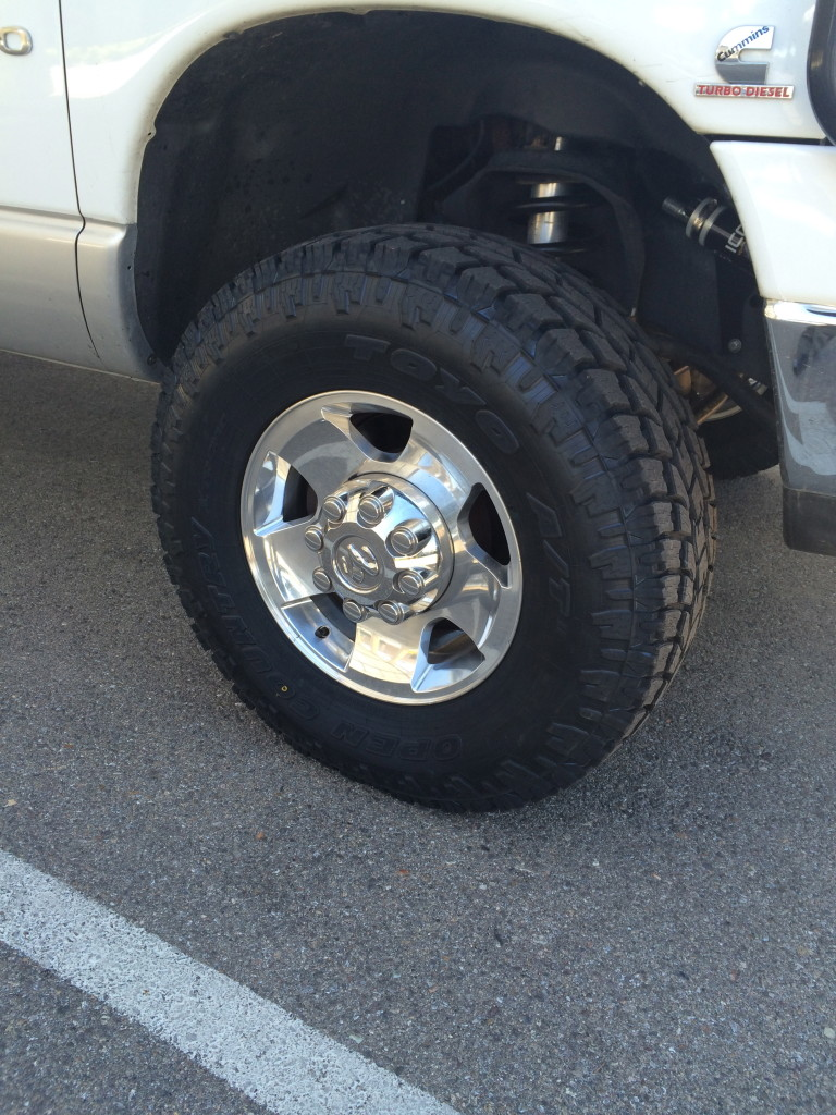 2014 Dodge Powerwagon wheels and 285x75x17 Toyo AT2 tires