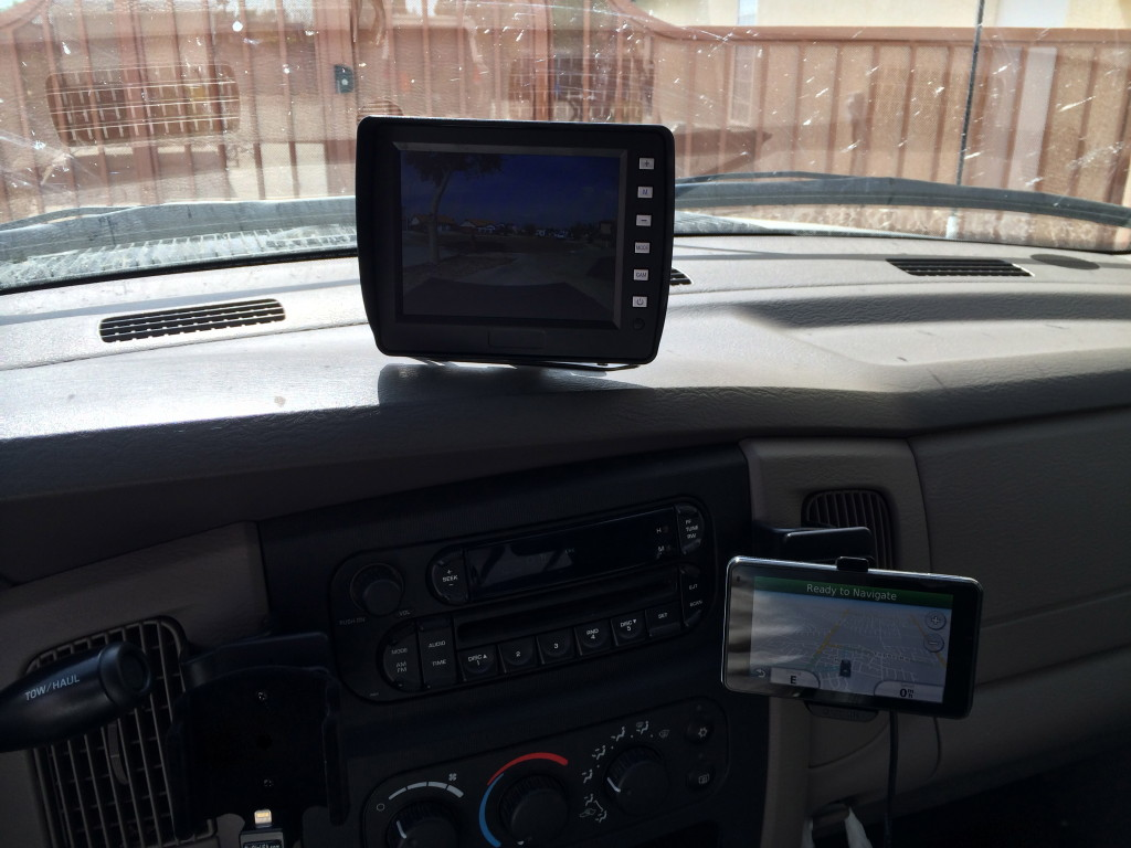 rear/front camera, GPS mount and iPhone mount