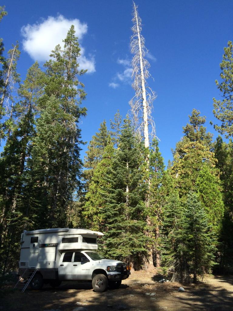 campsite near Sawmill Lake