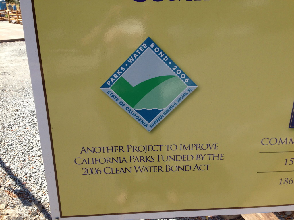 But the state is proudly using 2006 Clean Water Bond Funds to do it.