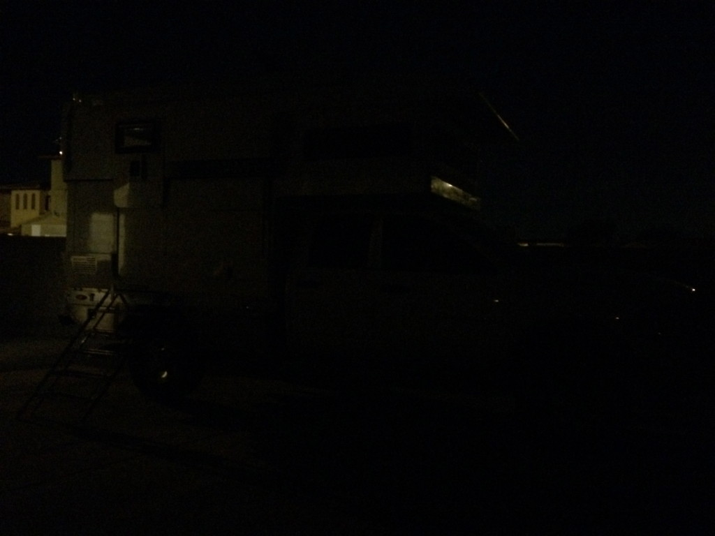truck with awning lights off